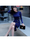 Split Knitting Dress - KP001803
