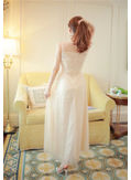 Gauze Embroidery Long Dress - KP001814