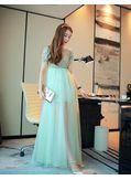 Gemstone Studded Gauze Party Dress - KP001817