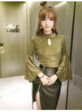 Flare Sleeve Top + Skirt - KP001828