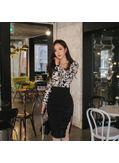 Animal Print Top + Wrap Skirt - KP001832
