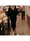 Popular V Neck Long Dress - KP001886