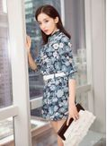 Cute Floral Jumpsuit with Belt - KP001976