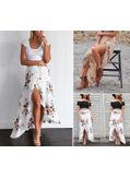 Asymetric Floral Skirt - KP002067