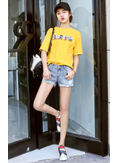Embroidery Denim Shorts - KP002069