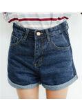 Simple Design Denim Shorts - KP002070
