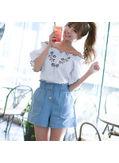 High Waist Denim Shorts - KP002071