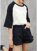 Ripped Denim Shorts - KP002072
