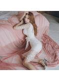 Polka Dot Bodycon Dress - KP002079