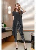 Long top + Stripped Pants - KP002080