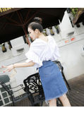 Blouse + Denim Skirt - KP002087