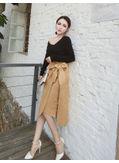 Solid Top + Midi Skirt - KP002091