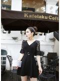 Cute V-Neck Party Dress - KP002120