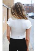 Simple Design V Neck T-shirt - KP002138