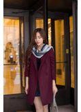 Solid Color Woolen Coat - KP001805