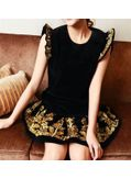 Black Embroidery Sleeveless Dress