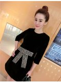 studded Bow-knot Design Dress