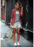Stylish Plaid Blazer Coat - KP001426