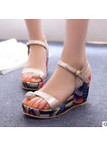 Studded Wedge Sandals - KP001900