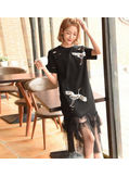 Sequin long T-shirt Dress - KP002160