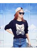 Cat Print T-shirt - KP001422