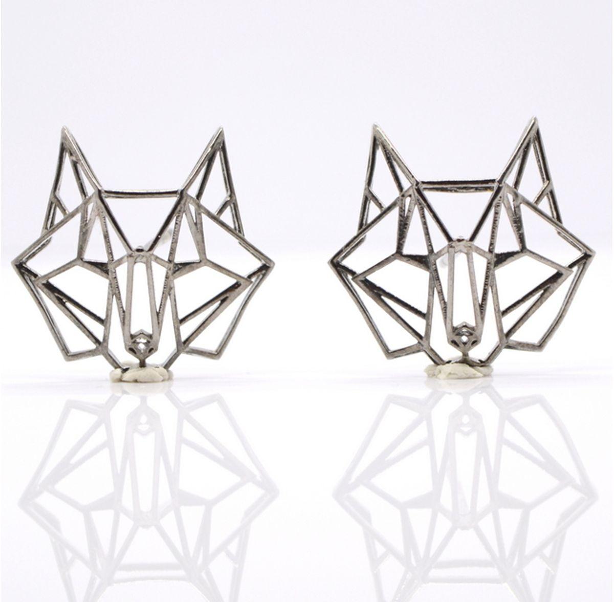 Aseem Gioielli Silver Wolf Earrings