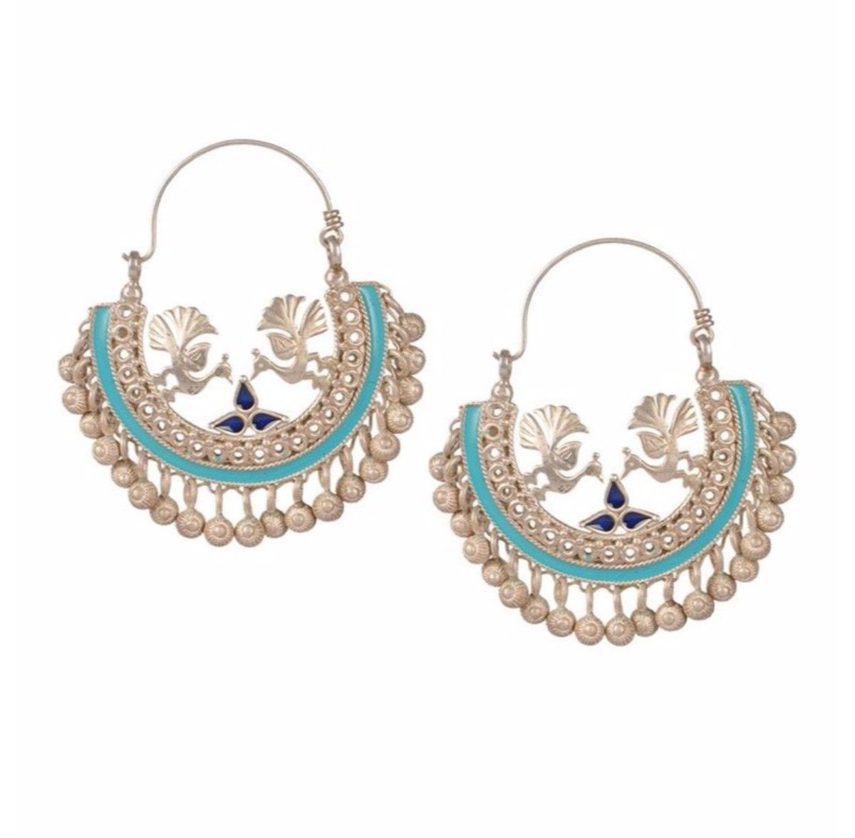 Devi Jaipur Blue Pea Earrings