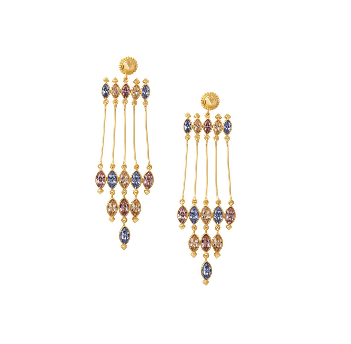 silver in gold and diamond amrapali earrings jewelry white lyst