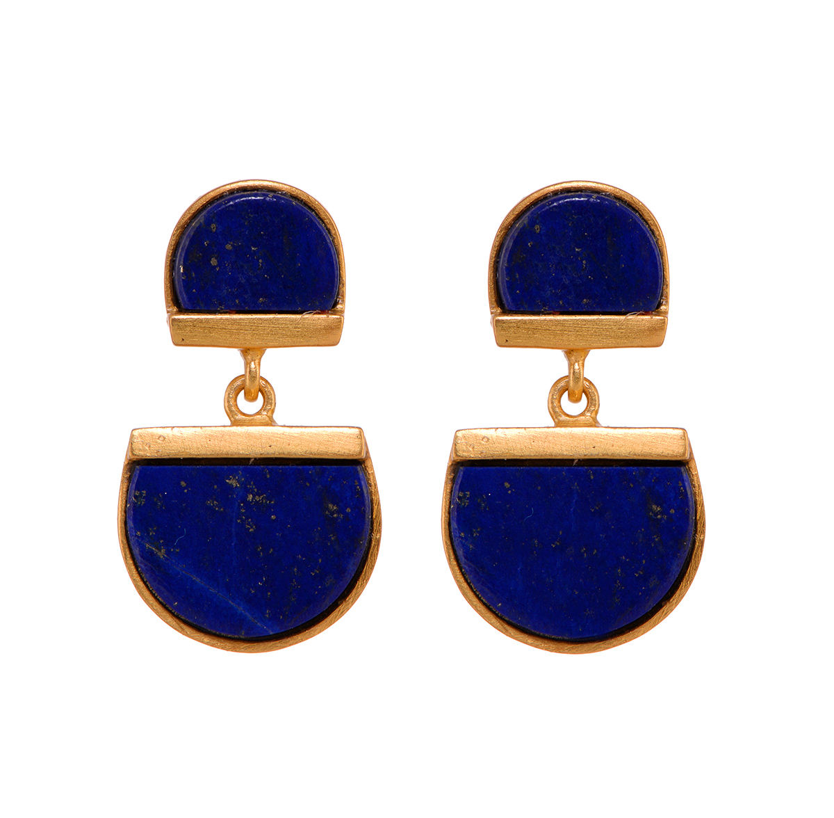 star and earrings gold tsavorite lazuli byzantine lapis