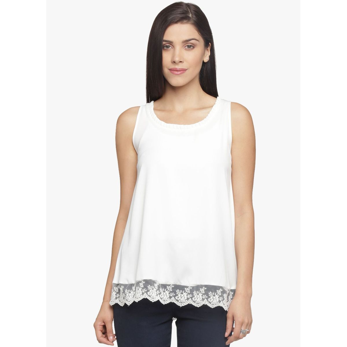 MEGAN WITH BORDER LACE TOP