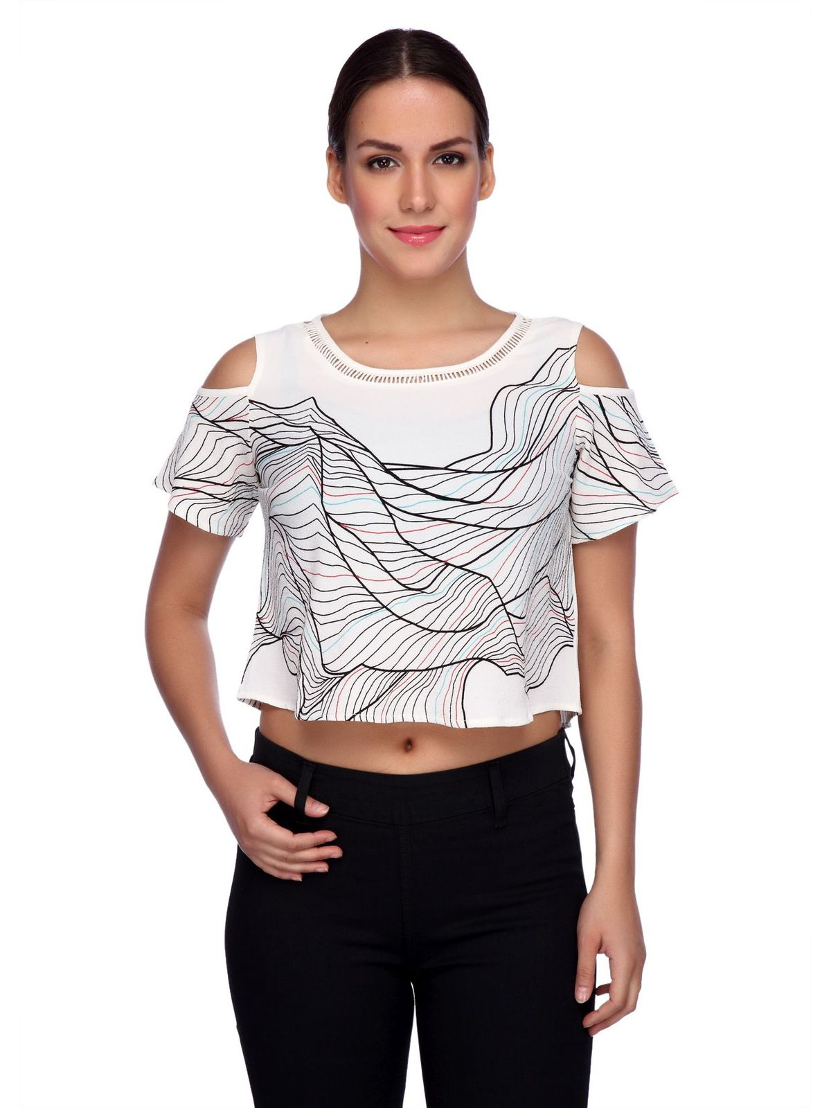 BACK BUTTON CROP TOP