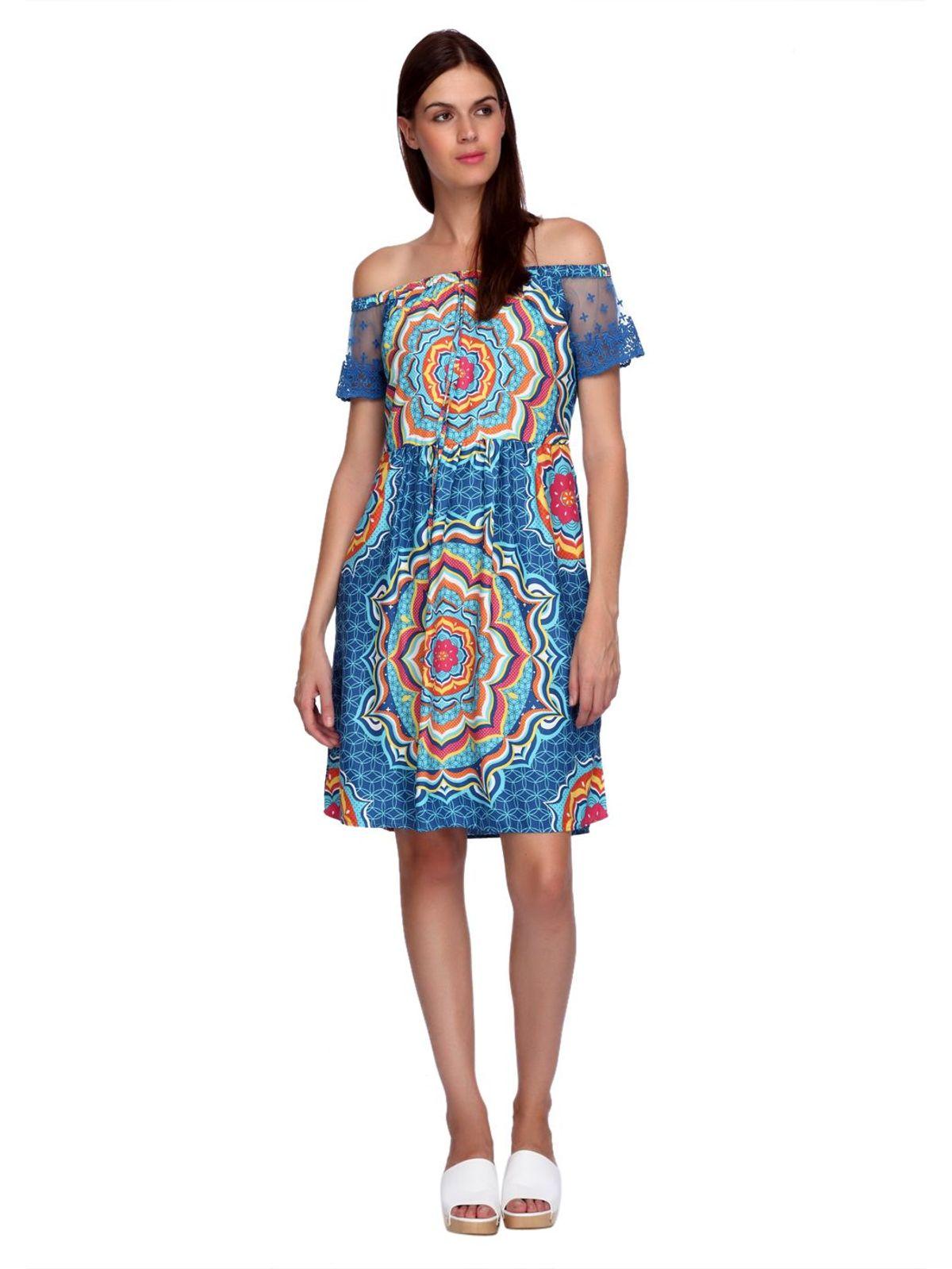 MANDALA OFF SHOULDER DRESS
