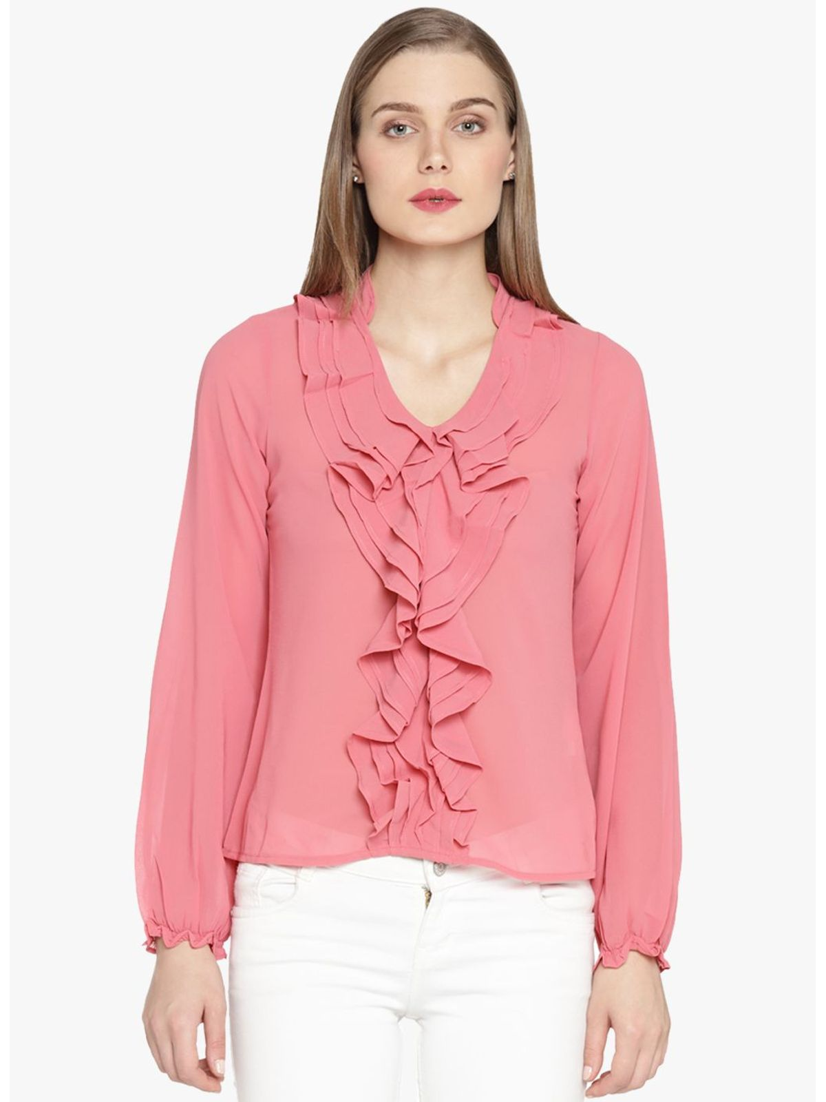 KELLY RUFFLE SHIRT
