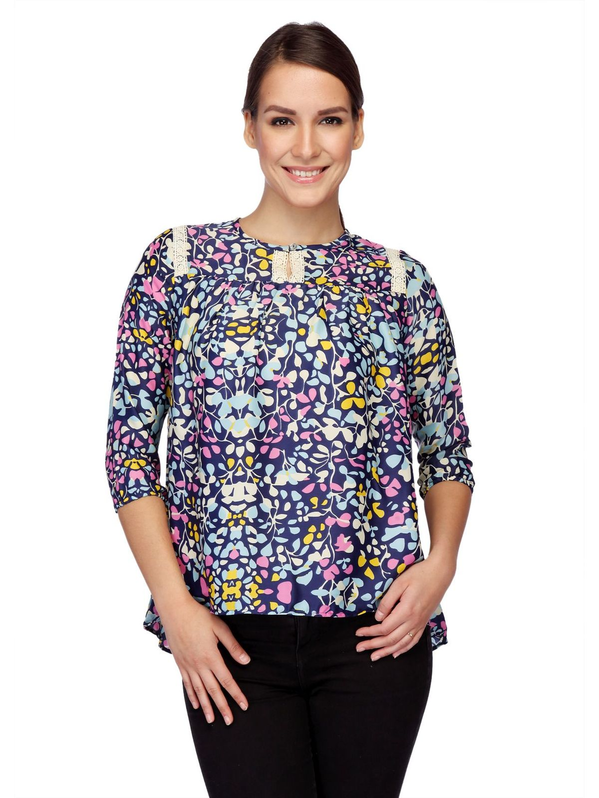 MULTI-COLOR PRINTED TOP