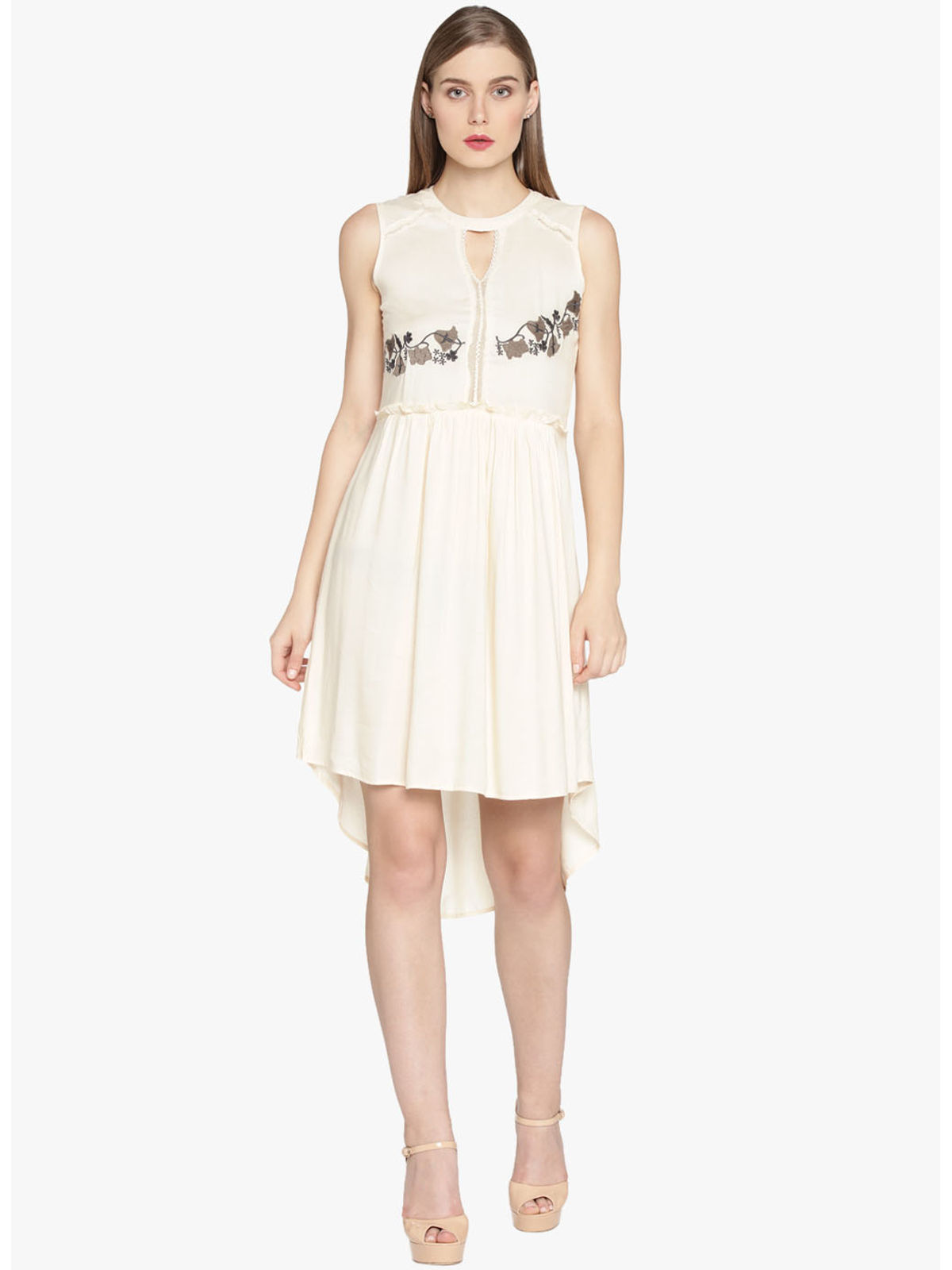 ABBY EMBROIDERY SHORT DRESS