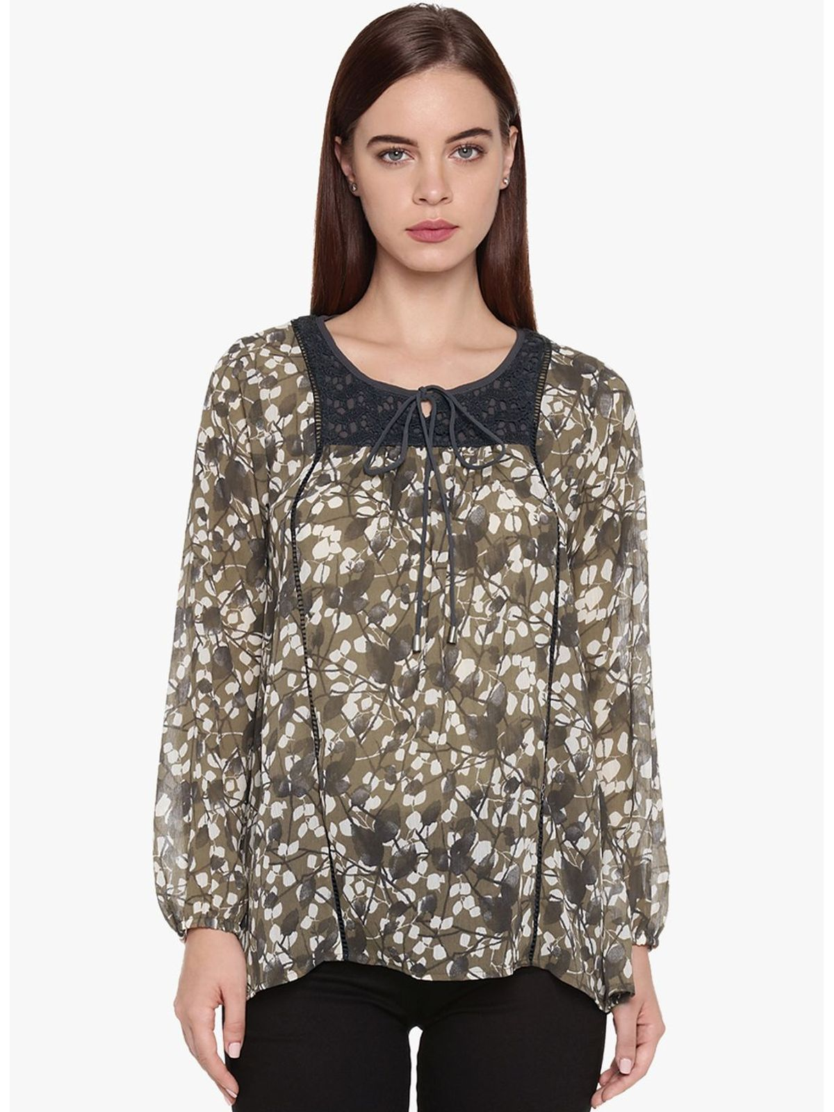 ANGELINA PRINTED CHIFFON TOP