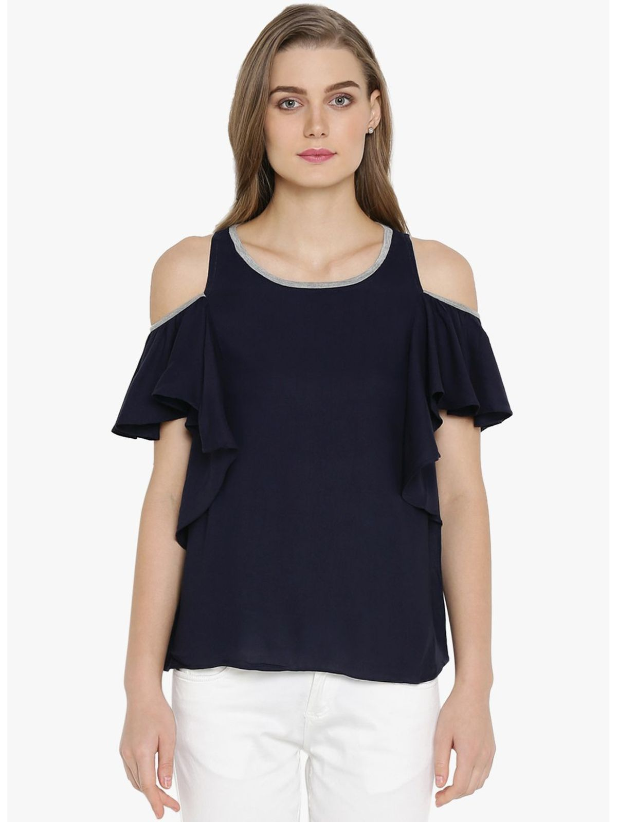 ALINA COLD SHOULDER TOP
