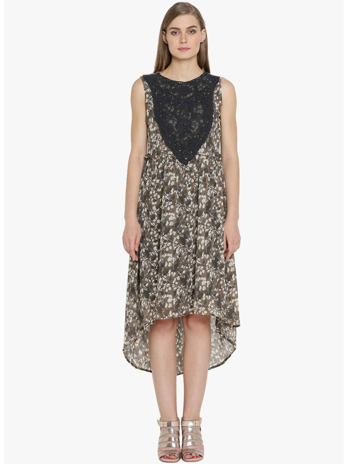 ANDRINA LONG & SHORT CHIFFON DRESS