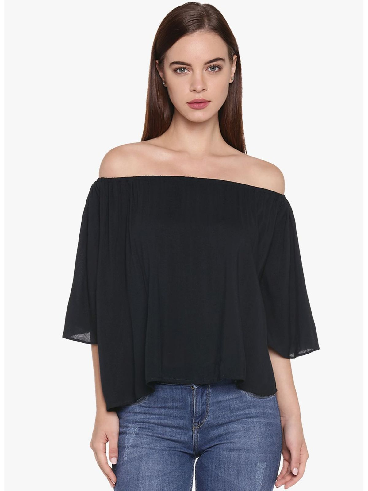 BEA SOLID OFF SHOULDER TOP