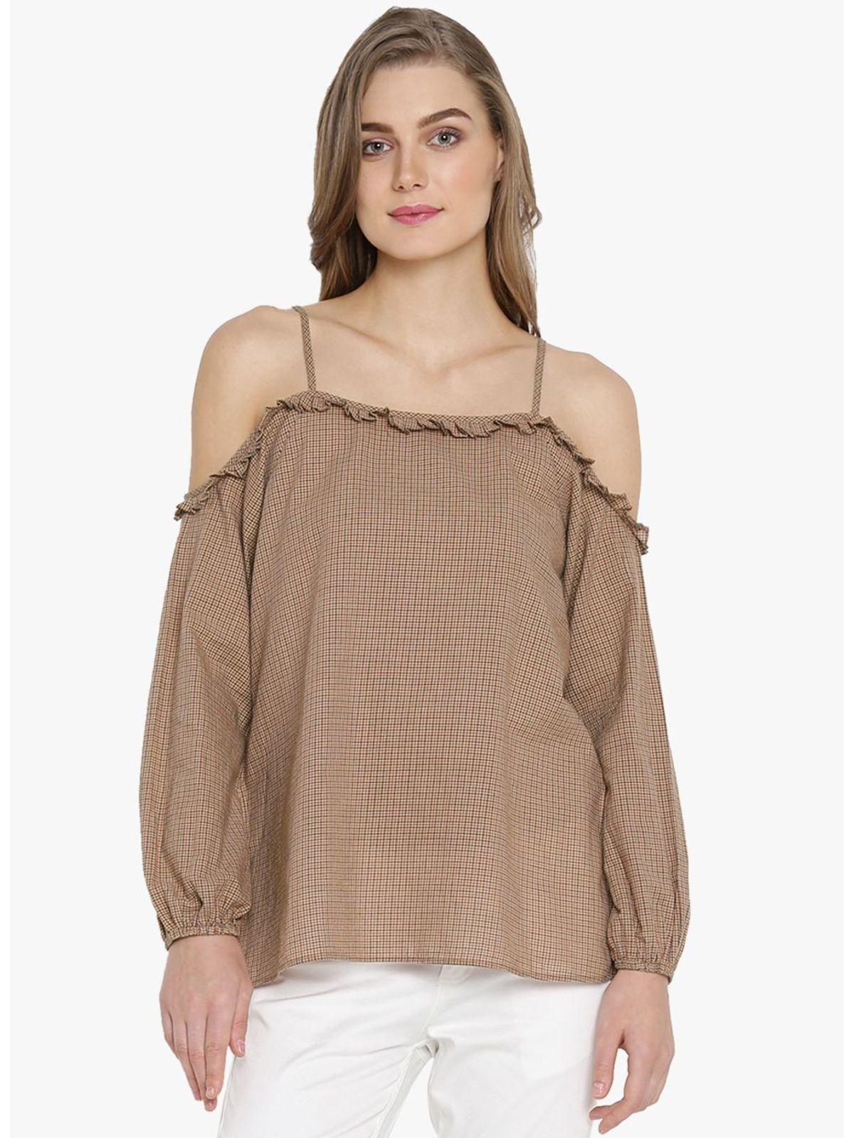 ELLA COLD SHOULDER TOP
