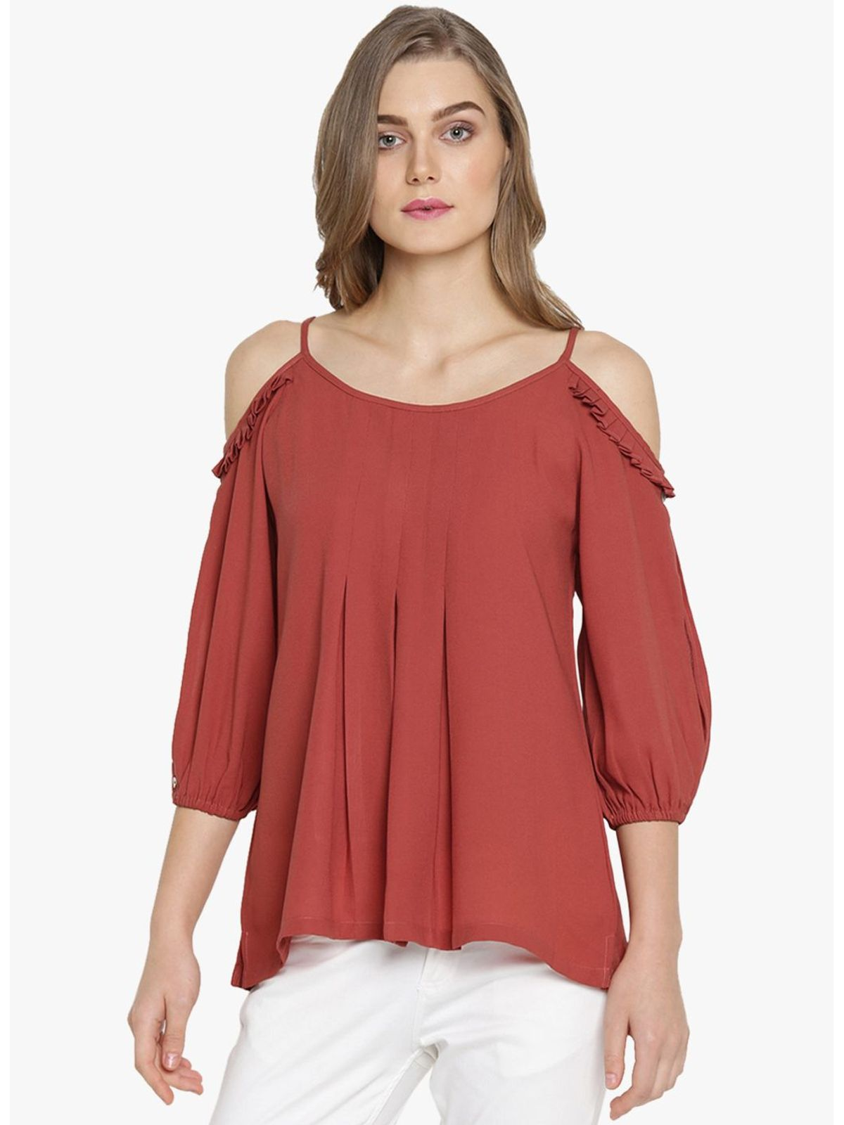BERNETTA COLD SHOULDER TOP