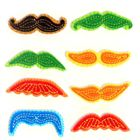Mini Colorful Mustaches 3D Stickers
