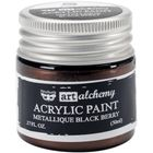 Metallique Black Berry - Alchemy Acrylic Paint