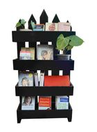 uByld Horizon Picket style open book shelf DIY furniture kit