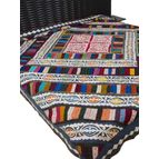 Multicolored patch double bed cover