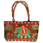 Pearl Palki bag with elephant design