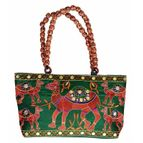 Pearl Palki bag with camel design