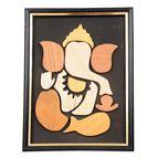 Ganesha wooden picture