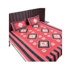 Bed sheet red & black lady print