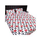 Bed sheet red flower print